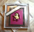 Birthday Card Handmade Boxed Keepsake Card with Pug Fridge Magnet & Charm